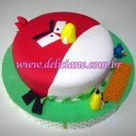 Bolo Angry Birds alto relevo