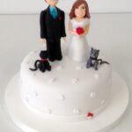 Bolo casamento casal personalizado