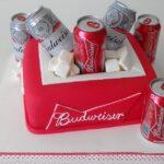 Bolo caixa de cerveja Budweiser 2
