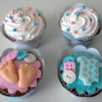 Cupcake decorado Chá de bebê
