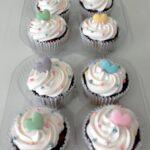 Cupcake decorado corações