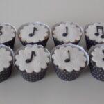 Cupcake decorado Notas musicais