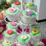 Cupcake decorado flores