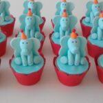 Cupcake decorado elefante