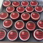 Cupcake decorado símbolo Flamengo
