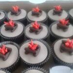 Cupcake decorado fogueira