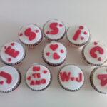 Cupcake decorado Romântico