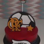 Torta Flamengo decorado com topper