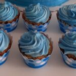 Cupcake cobertura degradê azul