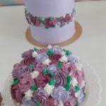 Mini bolo com chantilly