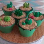 Cupcake decorado Cactos