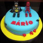 Bolo Batman e Homem aranha