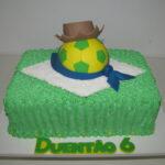 Torta Bandeira do Brasil com bola