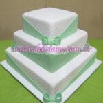 Bolo casamento branco e verde