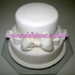 Bolo noivado rendado branco