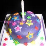 Mini bolo com estrelas