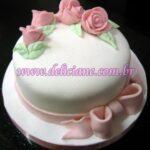 Mini bolo arranjo rosa