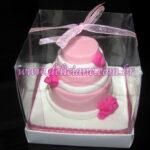 Mini bolo 3 andares rosa