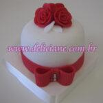 Mini bolo arranjo rosas