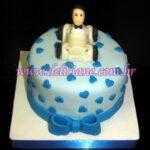 Mini bolo romântico azul