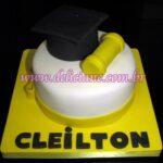 Mini bolo formatura amarelo