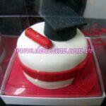 Mini bolo formatura vermelho
