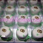 Mini bolo  branco e verde claro