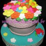 Mini bolo vazo de flor