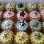 Cupcake decorado com cachorros