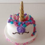 Bolo unicornio Lilas
